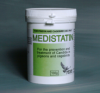 Non-water soluble treatment for in contact Yeast, Candida, Thrush infections in caged birds.
